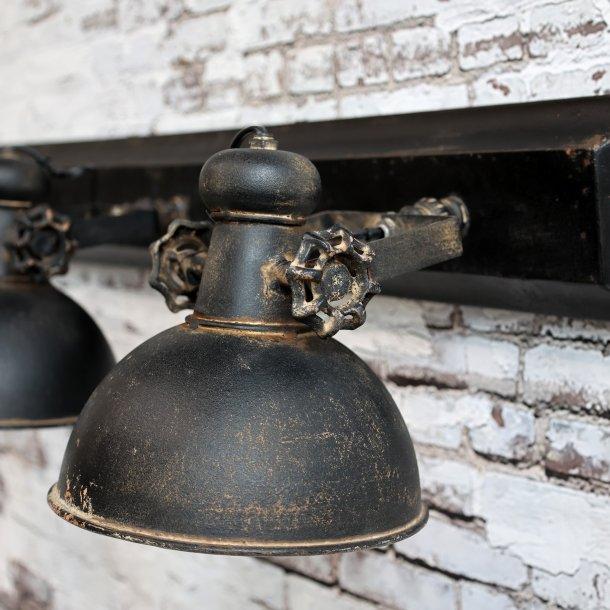 Lampe m. 3 spot Factory - Chic Antique Factory