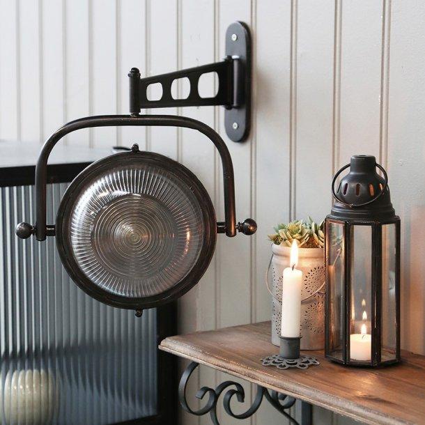 Lampe til væg rund Factory - Chic Antique