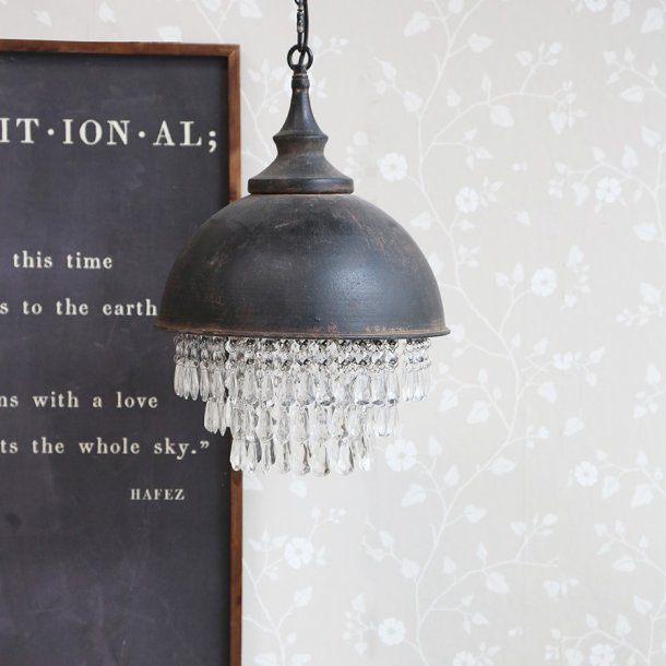 Lampe m. prismer Factory - Chic Antique