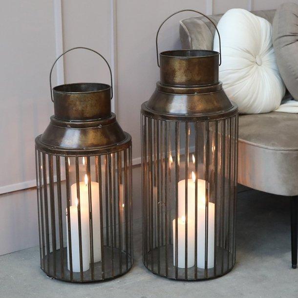 Lanterne m. åben top H62 - Chic Antique