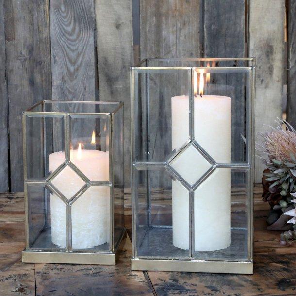 Lanterne m. messingdekor - Chic Antique