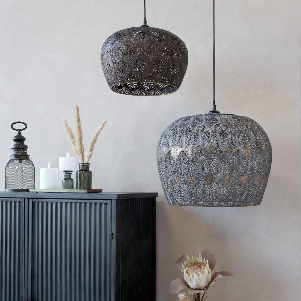 Lampe m. mønster Gl. vire - Chic Antique